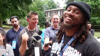 Shaq Thompson Arrives at Training Camp;Talks Being the Old Guy, Youthfully Talented Defense and More