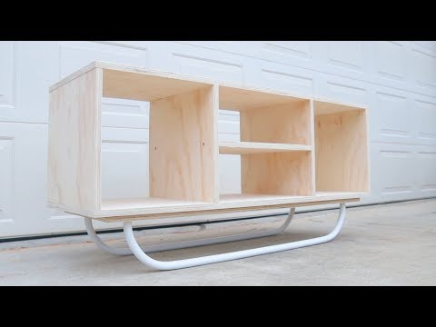 How To Build a Modern Plywood Media Console // DIY