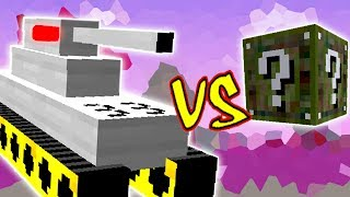 TANK VS. LUCKY BLOCK CAMO (MINECRAFT LUCKY BLOCK CHALLENGE)