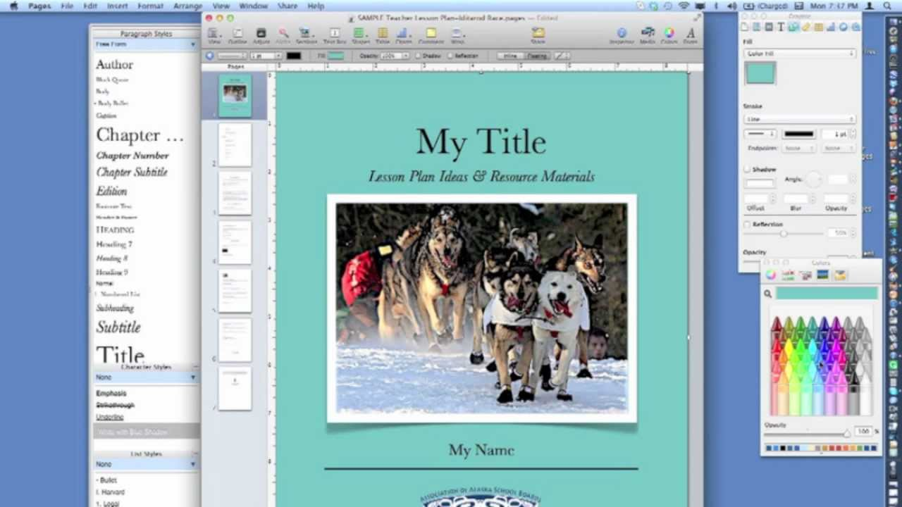 How to Create an ePub Digital Book Using Pages - YouTube