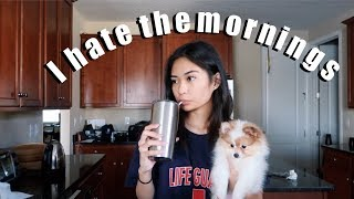 MY MORNING ROUTINE FT. MY ANNOYING PUPPY