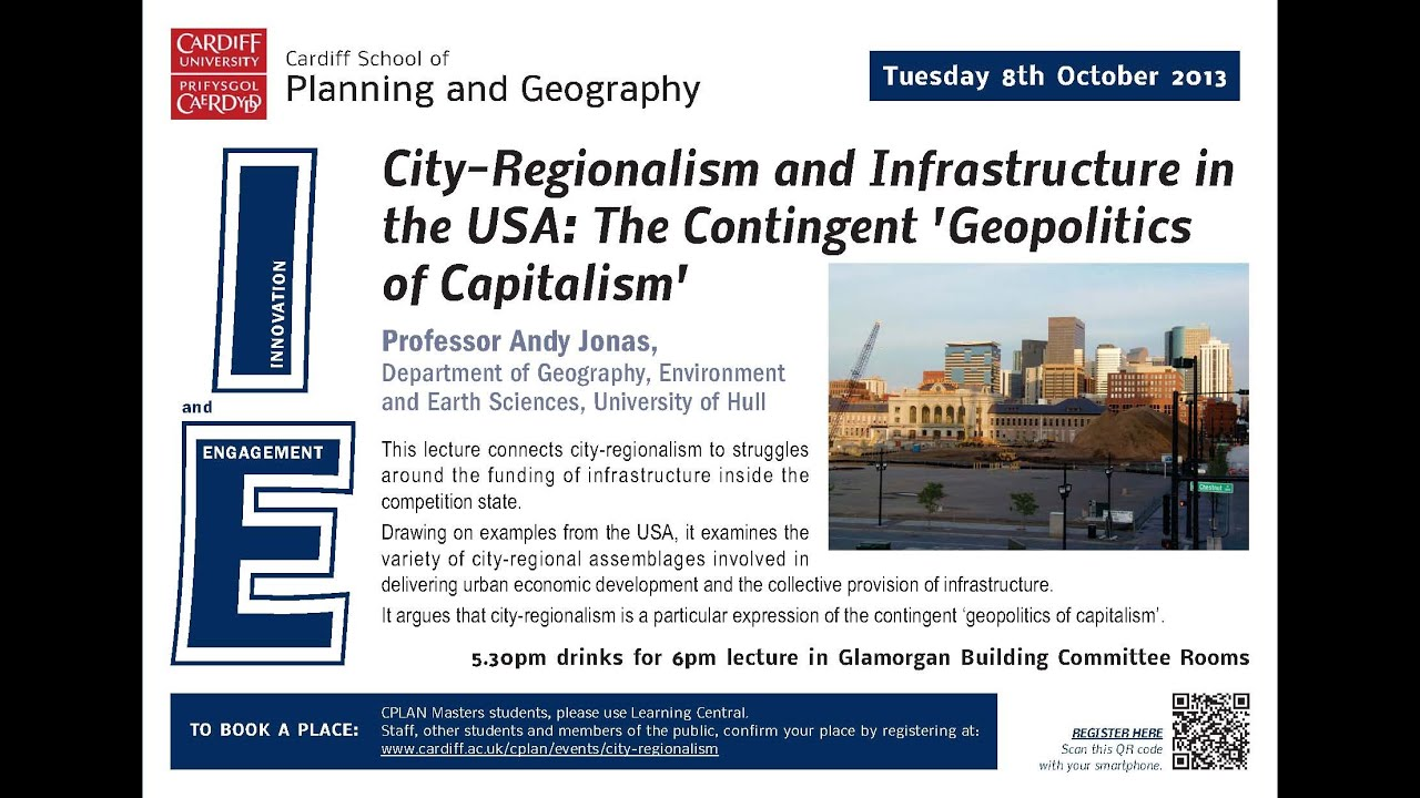 City Regionalism And Infrastructure In The Usa Andy Jonas Youtube