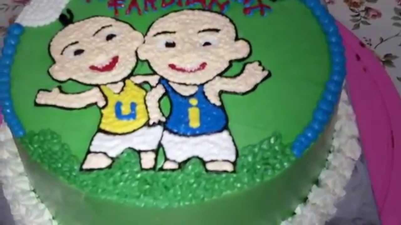 Upin Ipin Green Cake Theme YouTube