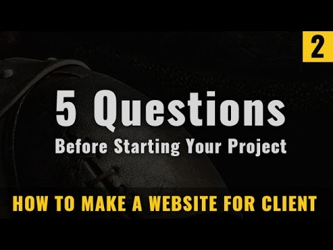 5 Questions before starting your web design project in Hindi -- learn to make a website