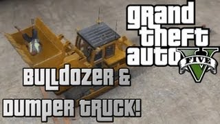 GTA 5 - Bulldozer & Dumper Truck (JCB) Secret Locations