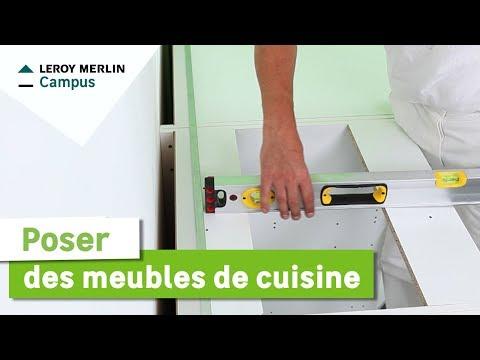 Comment poser des meubles de cuisine ? Leroy Merlin