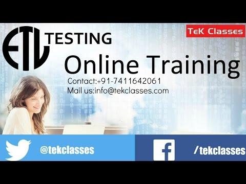 Etl tutorial testing pdf
