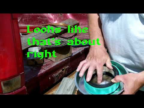 Making a Zero Turn Mower Air Cleaner Lid out of a Cake Pan