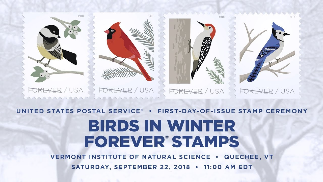 USPS Birds In Winter Forever® Stamps