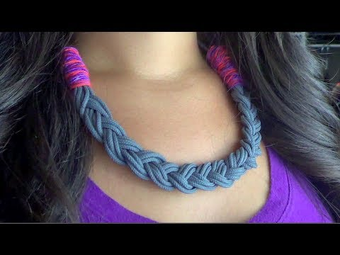Diy Statement Necklace Parachute Cord Youtube