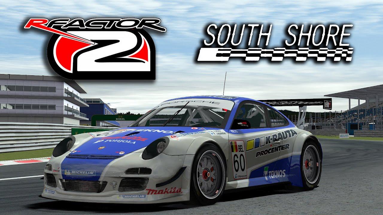 Porsche Of South Shore >> rFactor 2 [60fps] Porsche 911 GT3 RSR @ South Shore International Circuit - YouTube