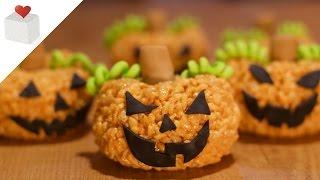 Calabazas de Halloween con Arroz Inflado   Azúcar con Amor