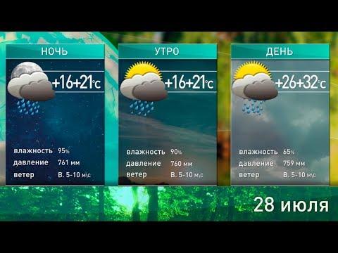 Прогноз погоды на 28 июля