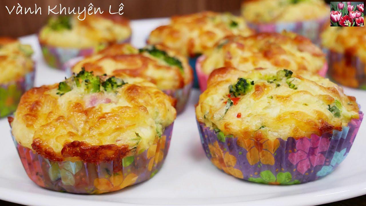 MUFFINS mặn / CUPCAKES Bông Cải xanh – Finger Food thơm ngon đủ chất dễ làm nhanh gọn by Vanh Khuyen