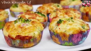 MUFFINS mặn / CUPCAKES Bông Cải xanh - Finger Food thơm ngon đủ chất dễ làm nhanh gọn by Vanh Khuyen