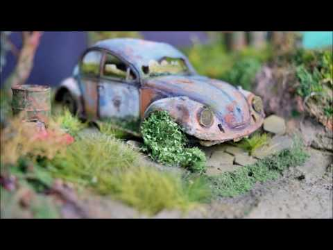 Construction of the diorama in seven and a half minutes Volkswagen Beetle 1080 P HD