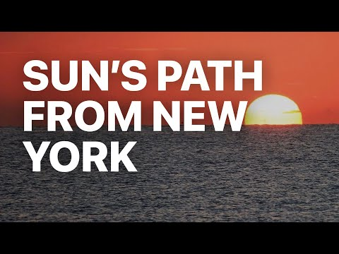 The Apparent Path of the Sun as Viewed from New York State