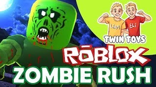 Twin Toys Plays Roblox Zombie Rush!