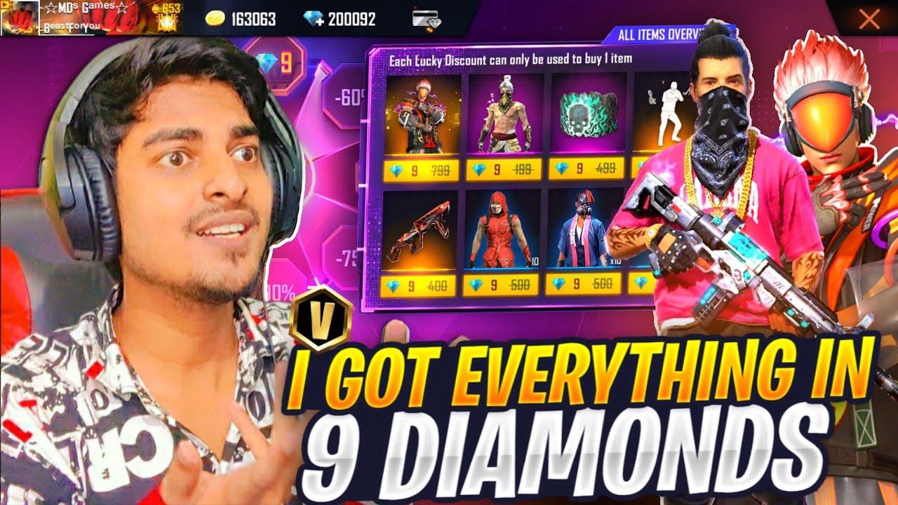 I Got All Rare Items In 9 Diamonds Buying All Rare Bundles, Emotes & Gun Skins - Garena Free Fire