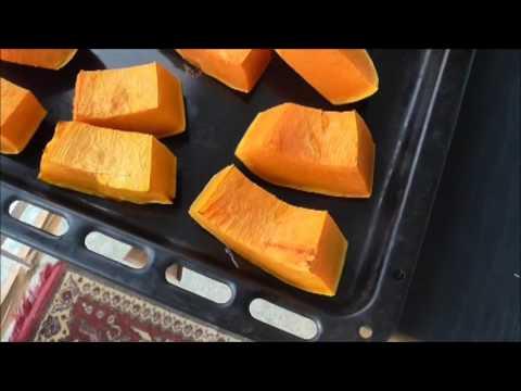 запекание тыквы в духовке кусочками