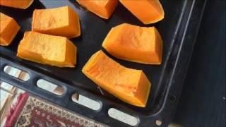 Тыква запеченная кусочками в духовке, без сахара
