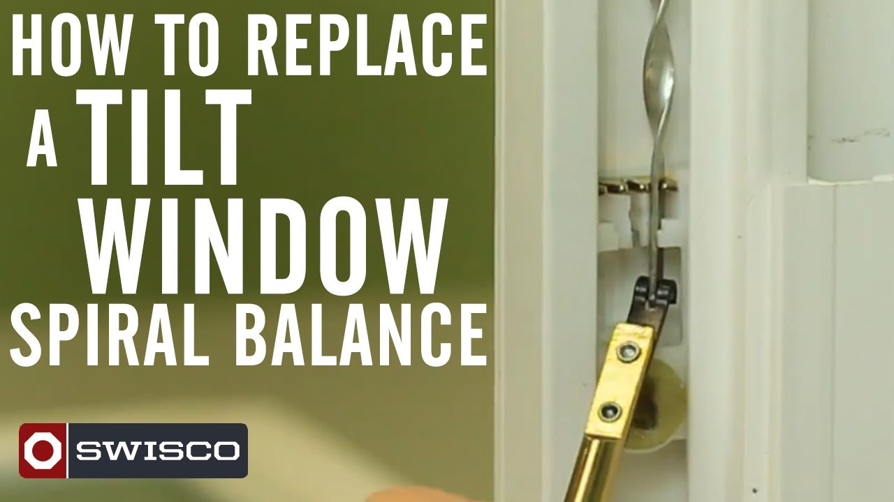 How To Replace A Tilt Window Spiral Balance
