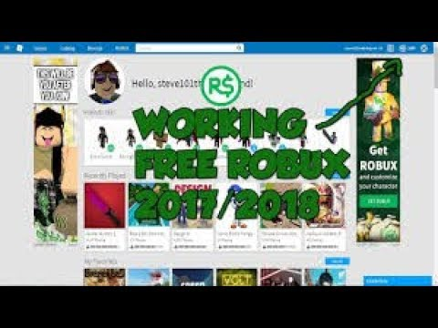 RBXCash Free Robux Work 2018