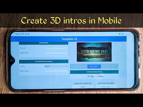 How to create 3d intros in mobile without any app (తెలుగులో) || By SUMANTH TECHINFO