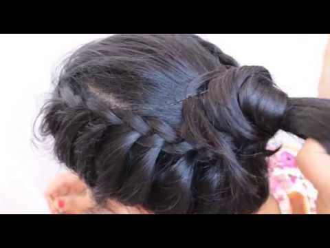 2 Pretty Easy Hairstyles For Wedding:Hairstyles Tutorial for Saree ...