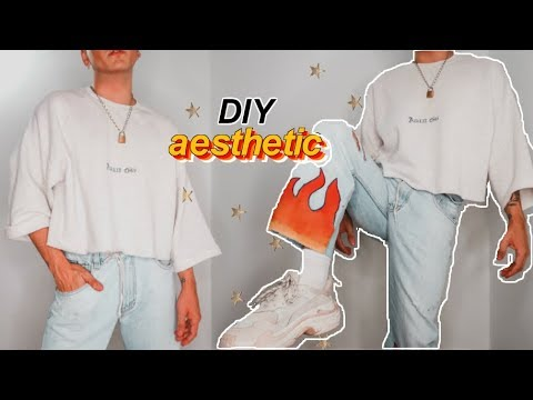 transforma tu ropa vieja/ diy aesthetic