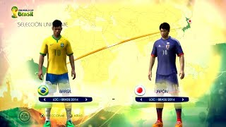 2 jugadores FIFA World CUP 2014 Brasil vs Japon  PS3 / Xbox 360