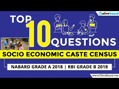 Socio Economic Caste Census | Top General Awareness 2018 Facts | NABARD Grade A