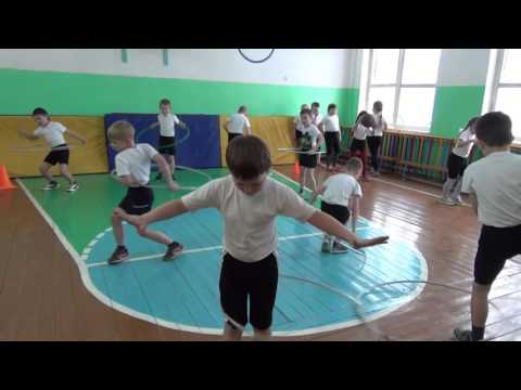 Урок физ-ры в 1 классе, 2016г. Видеосъемка выпускных