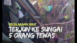 Video Bus Wisata Rombongan Guru Tk Tulungagung Terjun Ke Sungai 5 Orang Tewas