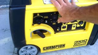 Generator Inverter War... Honda eu3000is  Yamaha ef2400is  and   Champion    3100  Sound off