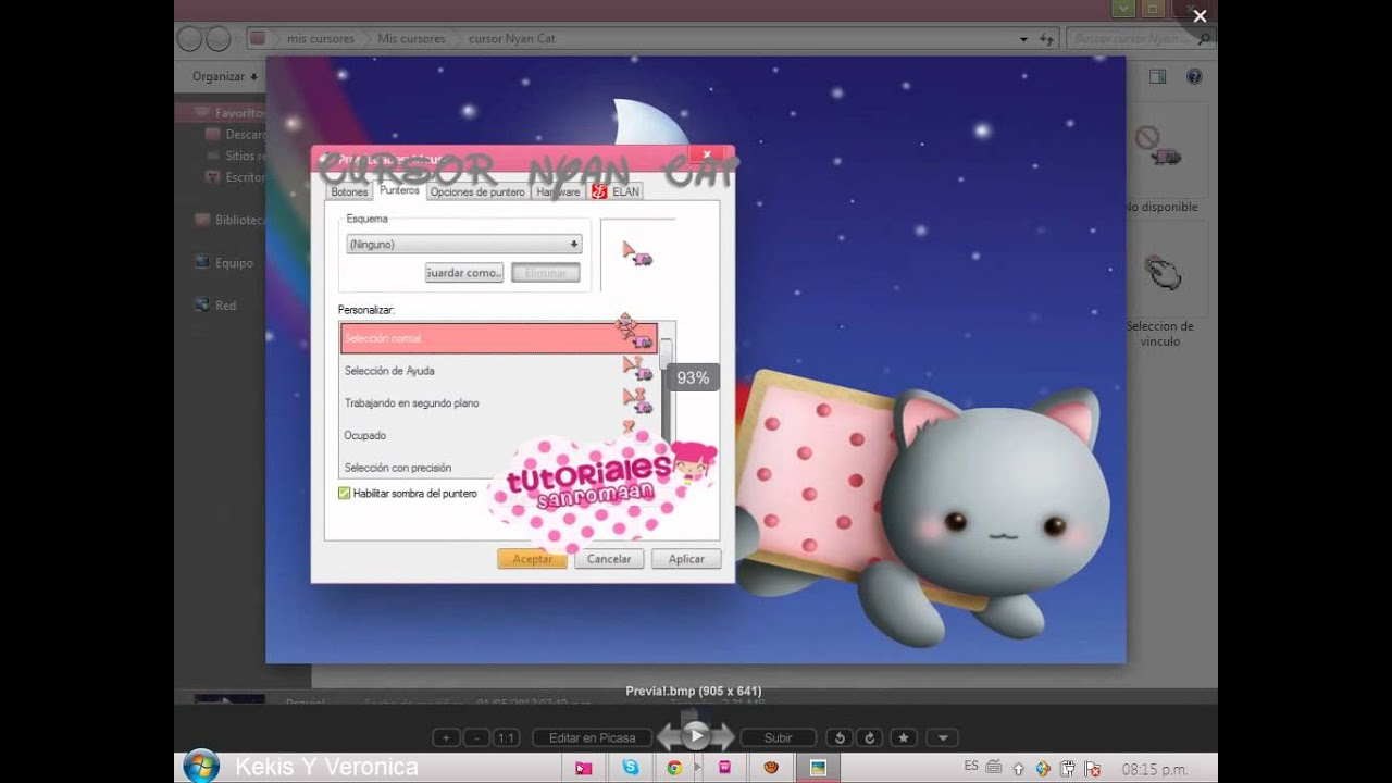 How To Get The Nyan Cat Cursor On Youtube