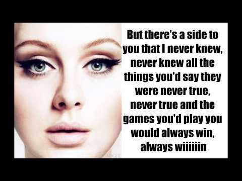 Set Fire to the Rain - Adele (lyrics)