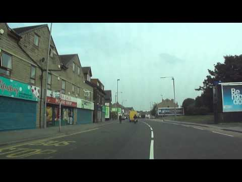 Car drive starting at The Leisure Exchange to Allerton district, Bradford, Yorkshire.