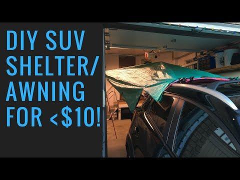 DIY SUV camping shelter/Awning | Less than $10!!
