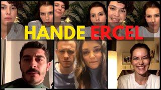 Hatice Şendil Instagram Live With Hande Ercel Kerem Bürsin, Burak Deniz, Fahriye Evcen, Acunilicali