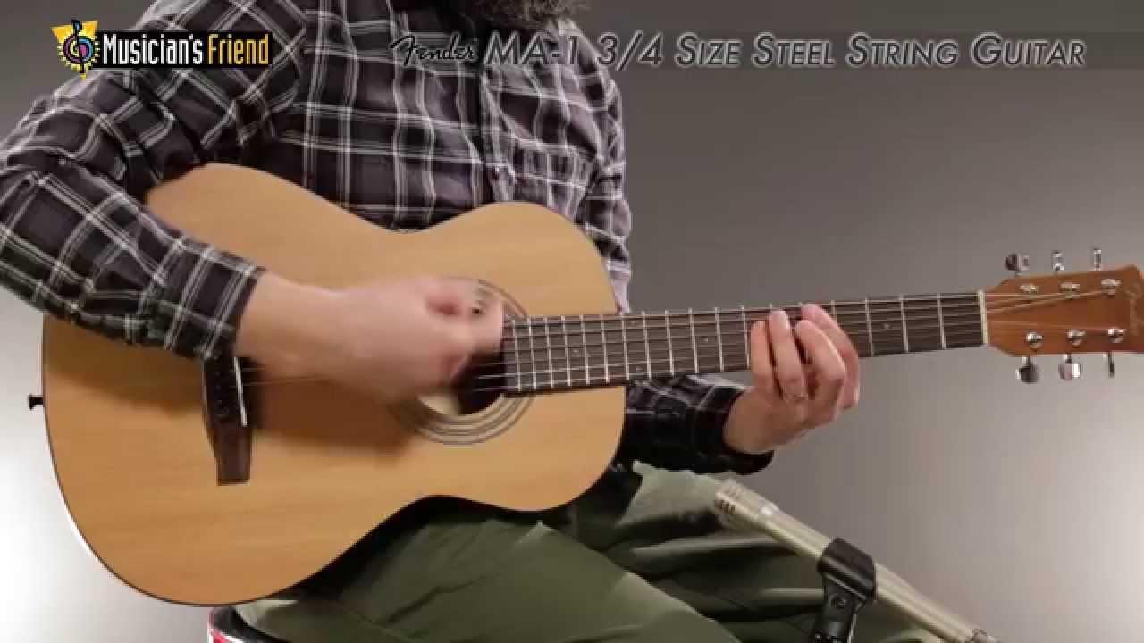 fender ma 1 3 4 size steel string guitar youtube. Black Bedroom Furniture Sets. Home Design Ideas