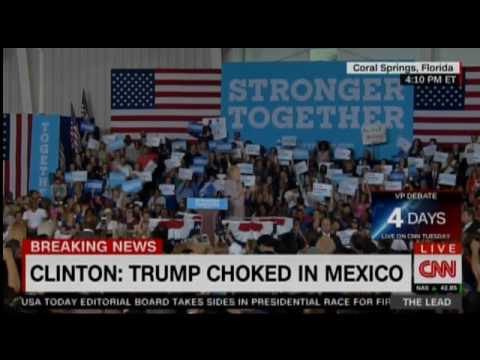 Clinton Needles Trump On Miss Universe Tweets And Border Wall