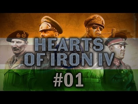 Hearts of Iron IV #01 RISING UP Independent India - Let's Play