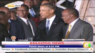 Obama Arrives in Kenya
