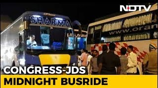 3 Buses On All-Night Journey As Karnataka Lawmakers 'Escape' To Hyderabad
