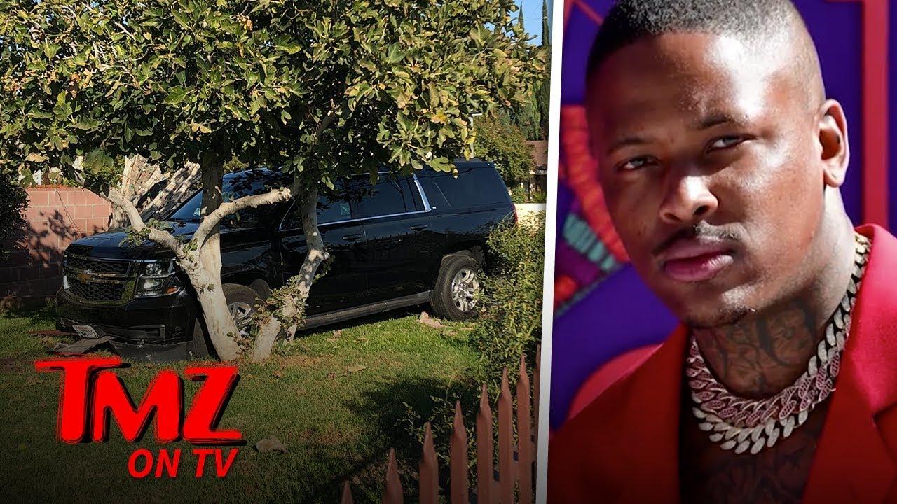 YG's Car Crashes Into Valley Home! | TMZ TV