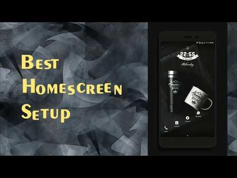 Best Minimalistic Home Screen Setup  2017