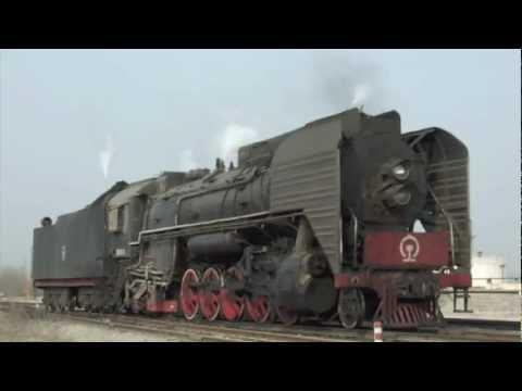 [China Steam Loco QJ]Yanzhou Coal Mining Company Railway QJ3461・QJ6811 兖州の前進型蒸機