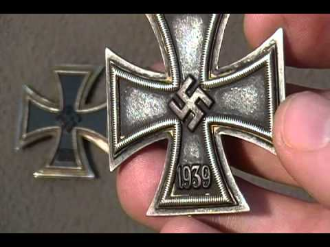 Ww2 iron cross first class nazi german military medal original award third riech youtube - German military decorations ww2 ...
