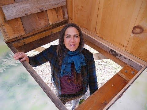 Stenciled Plywood Floors? A money saver in a TREE HOUSE INN